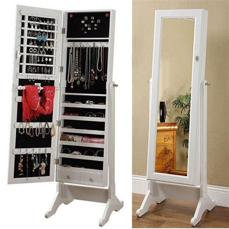 full length mirror jewellery cabinet solid wood furniture full body dressing mirror dressing