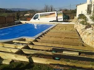 Piscine Semi Enterrée Coque : terrasse piscine semi enterree affordable piscine ~ Melissatoandfro.com Idées de Décoration