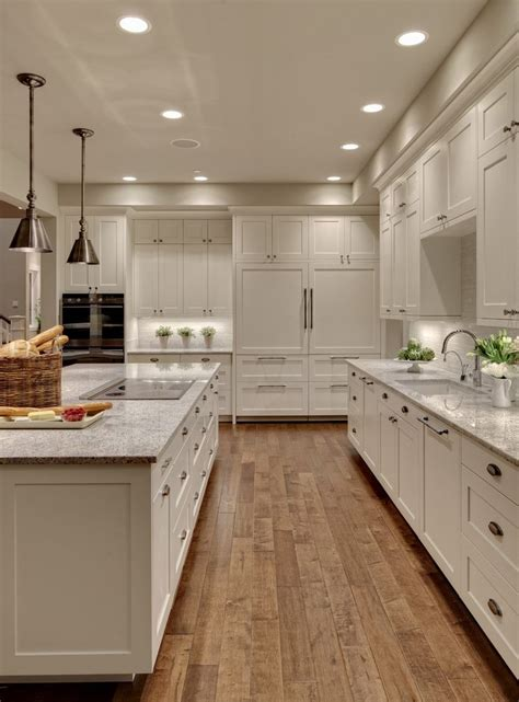 pretty java kitchen cabinets image ideas  farmhouse wide plank wood floors granite