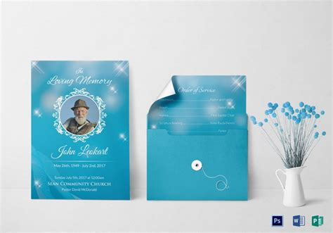 funeral obituary invitation template  images