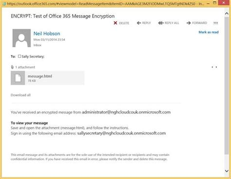 Office 365 Encryption by Office 365 Message Encryption Part 2