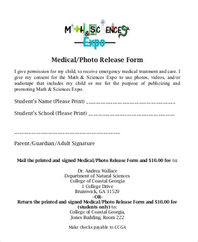 FREE 9+ Sample Photo Release Forms in MS Word   PDF