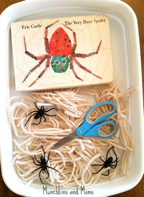 busy spider cutting activity spider web craft