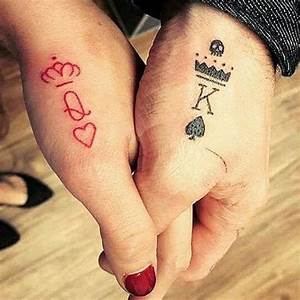 Couple Tattoo - Queen & King - Matching Tattoos For ...