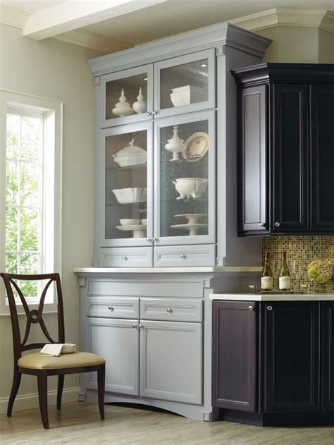 Thomasville Cabinets by Corina Maple Kitchen Shown In Graphite And Niagara By