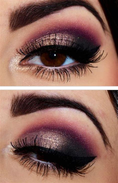 gold smoky eye tutorials  fall pretty designs