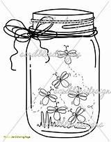 Jar Mason Firefly Coloring Drawing Jars Bug Lightning Fireflies Clip Template Pages Printable Scribbles Getdrawings Tattoo Ball Adult Designs Colorings sketch template