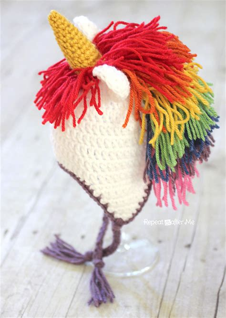 crochet patterns galore unicorn hat