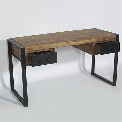 bureau en fer bureau bois metal mzaol com