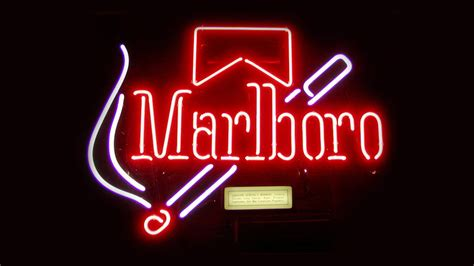 Marlboro Old-school Neon Sign Hd Wallpaper By Touchofgrey