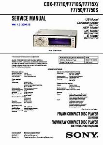 Sony Cdx F5710 Wiring Diagram