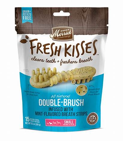 Merrick Fresh Kisses Mint Breath Strips Brush
