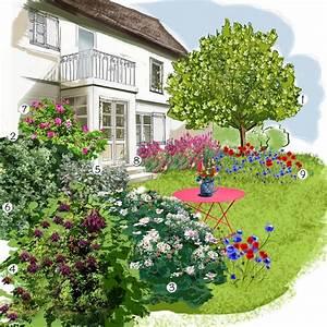Jardin Dessin Couleur : jardin champ tre jardin authentique jardineries truffaut ~ Melissatoandfro.com Idées de Décoration