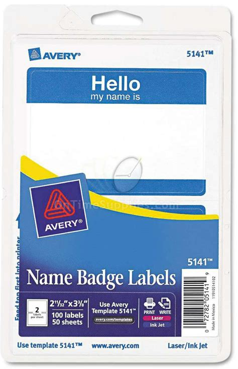 Avery Self Adhesive Laser Inkjet Name Tag Badge Printable Name Tags By Avery Ontimesupplies