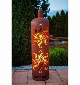Feuerstelle Aus Gasflaschen : sehr stylische feuertonne gasflasche mit sonnen design ~ A.2002-acura-tl-radio.info Haus und Dekorationen