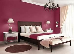 Farben Für Schlafzimmer Wände : elegante schlafzimmer einrichtung mit wand in purpur ideen rund ums haus in 2019 ~ Eleganceandgraceweddings.com Haus und Dekorationen