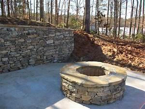 Natural, Stone, Firepit, Lake, Jackson, Ga, By, Bailey, Construction, U0026, Landscape, Group, Inc