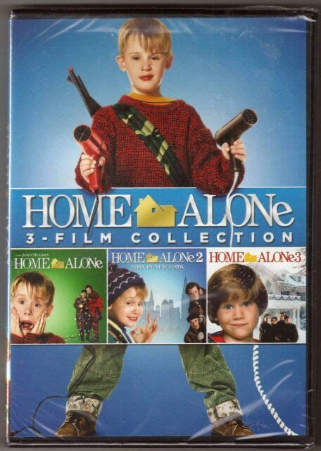Dvd Home Alone Three Feature Films Collection Includes 1 2 & 3 Trilogy Ebay
