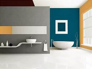 decoration salle de bain bleu canard With peinture plafond salle de bain