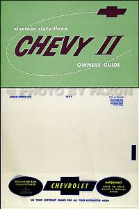 1963 Chevy Ii  U0026 Nova Wiring Diagram Manual Reprint
