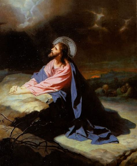 Resultado de imagen de oración de jesús en el huerto
