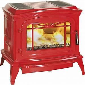 Poele A Bois Rouge : po le bois invicta bradford rouge 6173 47 po le bois ~ Dailycaller-alerts.com Idées de Décoration