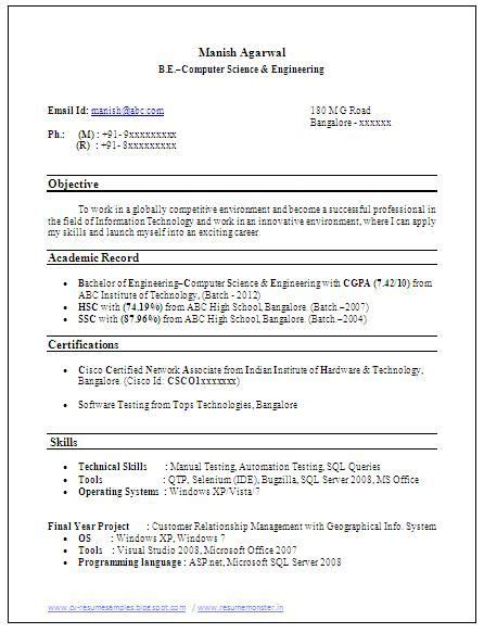 Excellent Cv Exles by Sle Template Exle Of Beautiful Excellent