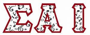 sai letters sai pinterest With sigma alpha iota letters