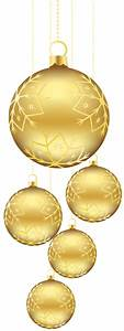 Christmas Golden Balls Ornaments PNG Picture | ~ Christmas ...