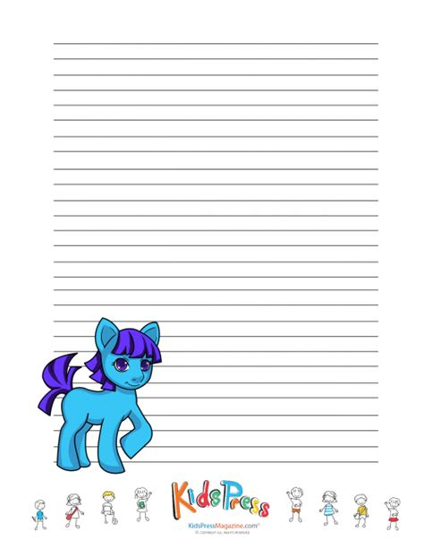 pony handwriting paper   images