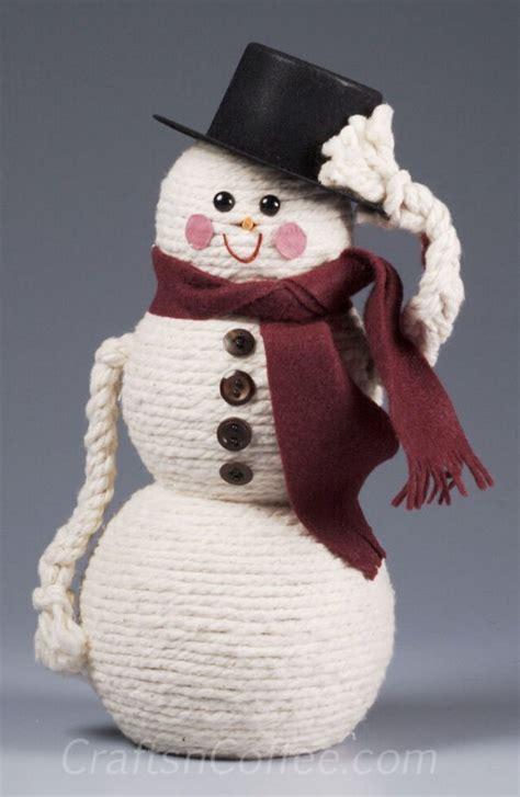 diy snowman craft ideas tutorials styletic