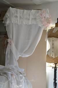 Rideau Lin Blanc : shabby chic shabby and rideaux on pinterest ~ Teatrodelosmanantiales.com Idées de Décoration