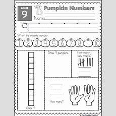Pumpkin Math Worksheet  Number 9  Kindergarten Fall  Preschool Worksheets, Math Worksheets, Math