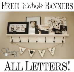 live laugh free printable banners numbers
