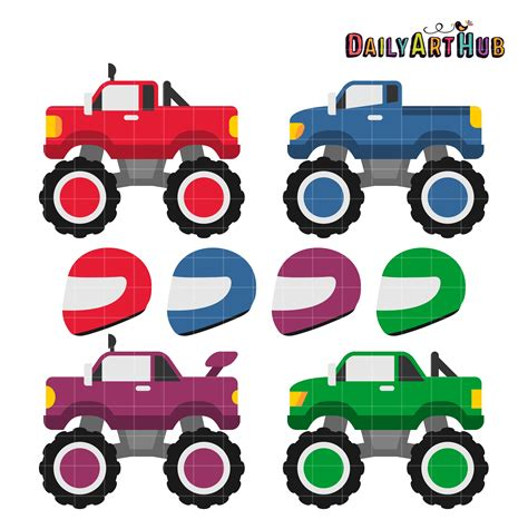 monster trucks video clips race car monster truck clipart clipartfox clipartix