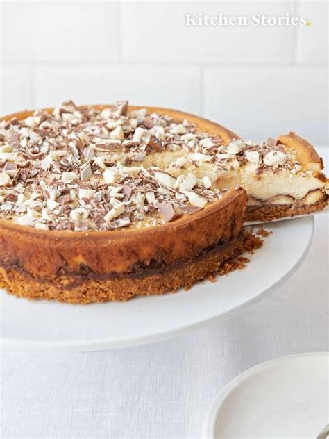 york cheesecake mit kinder riegel rezept essen