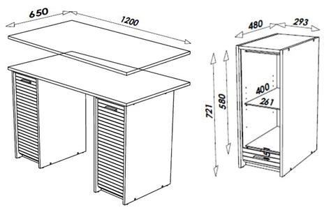 hauteur d un bureau bureau design avec caisson 224 rideau coloris aluminium passadena bureau bureau