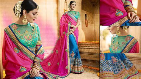 designer saree blouse designs s wear sarees half n half sarees blouse