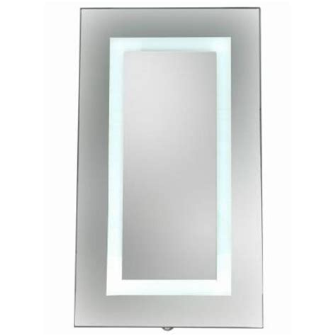 home depot medicine cabinet with mirror glacier bay 15 in x 26 in surface mount led mirror