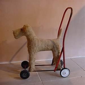 Toy Dog on Wheels - Antique Decorative Items