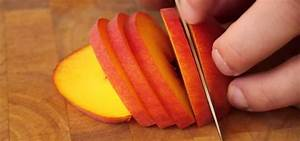 How to Slice a ripe peach with a forward cut « Fruit ...