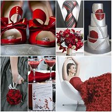Wedding Ideas Gray And Red Wedding