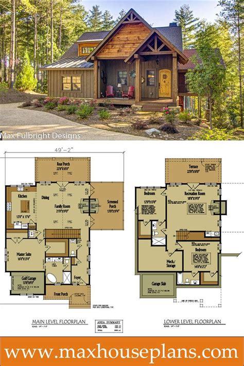 small cabin home plan  open living floor plan house
