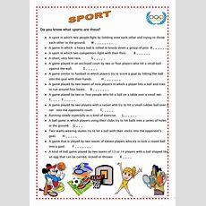 Sport 4 Worksheet  Free Esl Printable Worksheets Made By Teachers