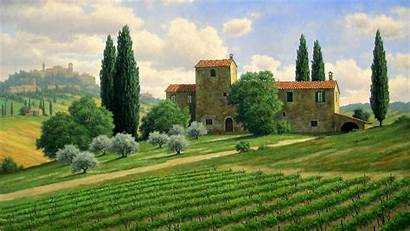 Tuscany Italy Landscape Wallpapers Background