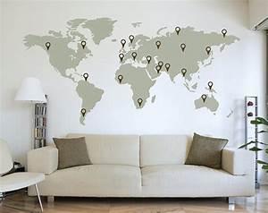 Carte Du Monde Deco : laisser sa trace sur le monde le cahier ~ Teatrodelosmanantiales.com Idées de Décoration