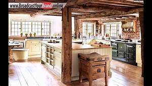 Küchen Ideen Landhaus : rustikale landhaus k chen einrichtung backsteinwand holztheke youtube ~ Heinz-duthel.com Haus und Dekorationen