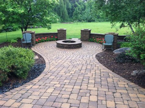 paver patio and pit diy