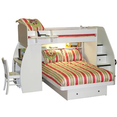 full over desk bunk bed berg sierra twin over full l shaped bunk bed with desk and