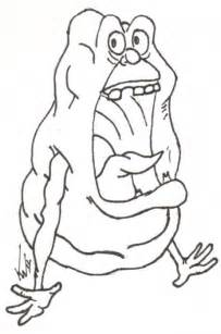 Ghostbusters Slimer Coloring Page